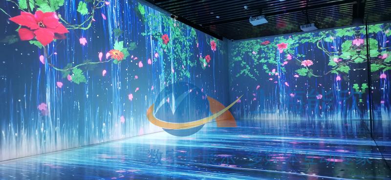 沉浸式互动投影 墙面互动投影 地面互动投影 全息互动投影
